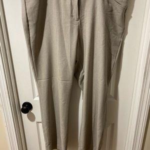Plus Size Beige Worthing Dress Pants